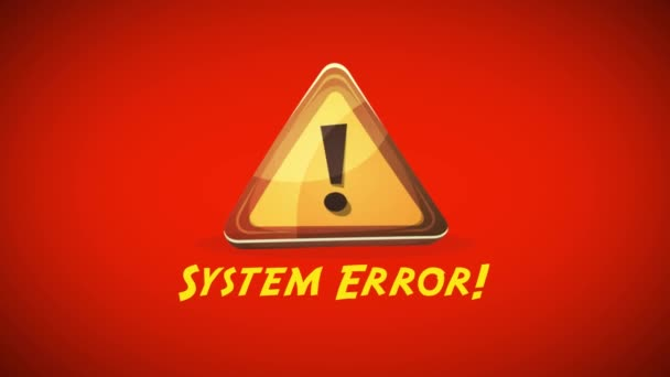 Systém chyba upozornění pozadí / animace červené varování podepsat zprávu obrazovky