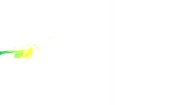 Duha barevné kouře pozadí / animace barevné duhy kouřit vzor izolovaných na bílém pozadí