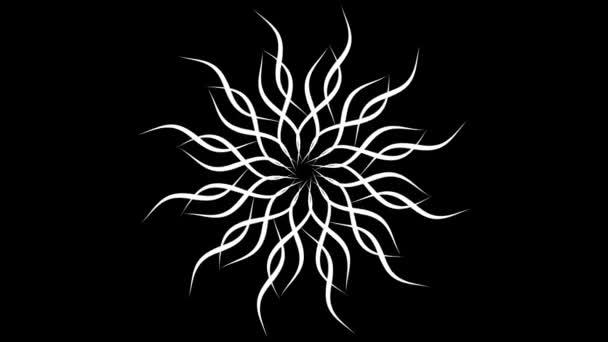 4k hurkolás Mandala forma absztrakt animáció / absztrakt animáció körkörös lejátszás, mandala, vagy kelta knot háttér