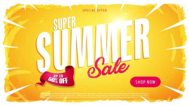 4k Video reklamu na letní prodej šablony / animace video šablonu dynamické letní prodej Inzerce, jednu verzi nápisu, text, tlačítko obchod a prvky
