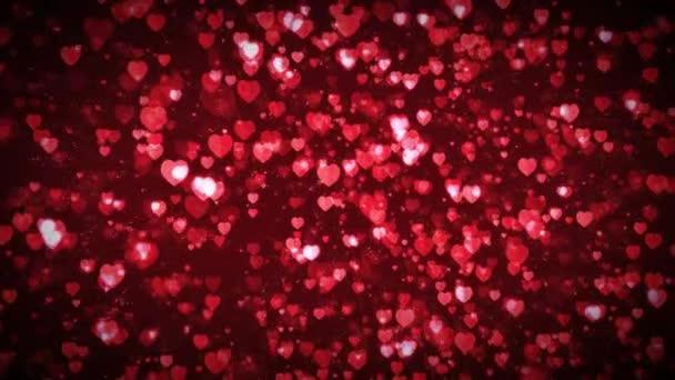 Den svatého Valentýna plovoucí srdce pozadí smyčky / 4k animace pozadí svátek Valentýn s krásné červené srdce plovoucí a roste, bezešvé smyčka