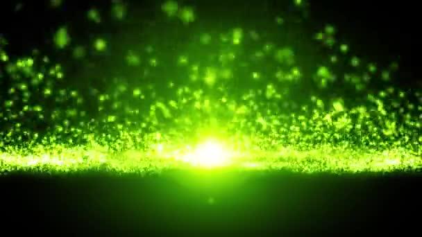 Abstraktní světlo částice proudící Loop / 4 k animaci abstraktní krásné, zářící světla částic pozadí bezešvé smyčka