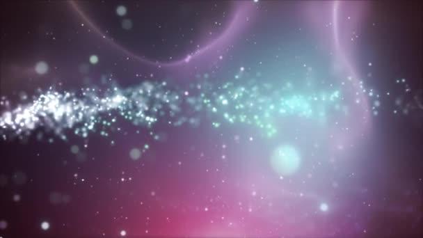 Abstraktní pozadí částice fraktální kapaliny / 4 k animaci barevné abstraktní fraktální pozadí s fluidní textura a částice plovoucí