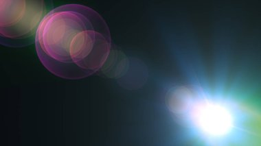 Optical Lens Flare Background