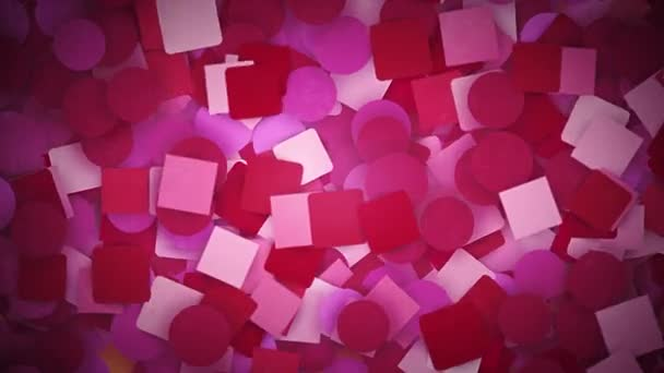 Astratto scrapbook carta note sfondo loop/4K animazione di uno sfondo decorativo astratto con fogli di carta galleggianti e animati in looping semaless