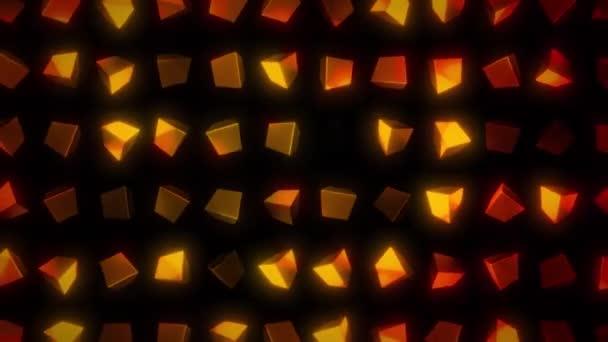 Astratto dardore modelli mosaico / dissolvenza 4 animazione k di uno sfondo astratto mosaico design elegante con forme e modelli