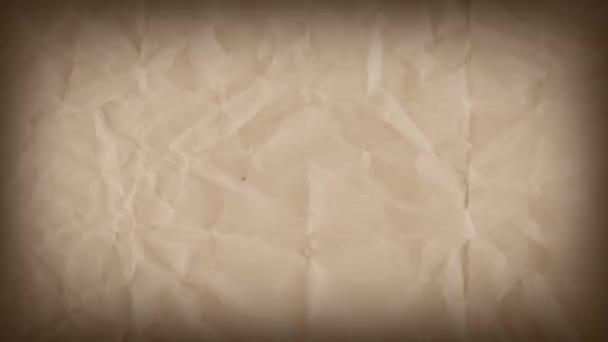 Absztrakt grunge Kraft papír texturált háttér loop/4k animáció egy Vintage mozgó grafikát grunge szakadt papír Textúrák zökkenőmentes hurkolás