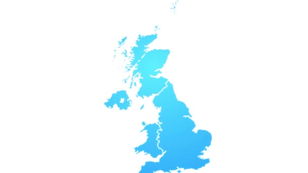 Map Of Uk Showing Regions.United Kingdom Map Showing Up Intro With Regions 4k Animated Uk Map Intro Background With Administrative Regions Appearing And Fading One By One And Camera Movement
