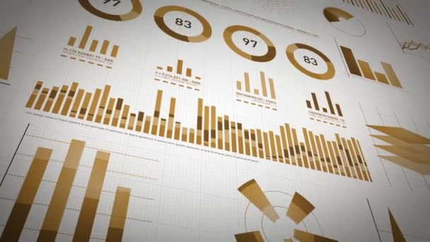 Business Statistics, Market Data And Infographics Layout Pack/ 4k animation of a set of design business and market data analysis and reports, with infographics, bar stats, charts and diagrams