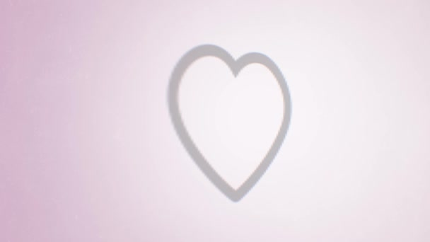 soziales Netzwerk wie Icon mit Splash-fx / 4k-Animation eines coolen sozialen Netzwerks Herz-Icon mit Mauszeigerklick und angezeigter Nummer