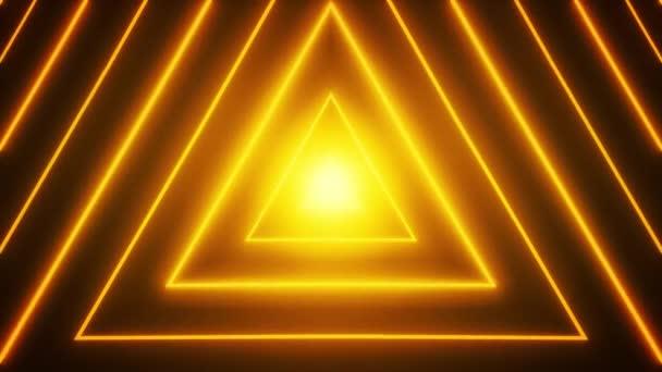Abstraktní neonová lesklá hvězda tvar smyčky pozadí/4k animace abstraktního pozadí obrazce digitální hvězda s neonové a lesklé efekty bezproblémovou smyčkou