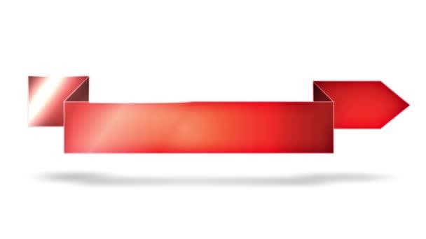 Siker üzleti nyilak és bannerek/4k animáció egy sor színes üzleti siker nyilak, a reklám üzenet és kommunikációs háttér