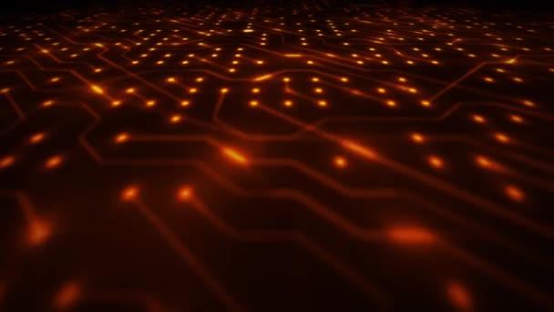 Technológia számítógép hasábburgonya háttér hurok/4k élénkség-ból egy elvont technológia háttér-val elektronika hasábburgonya körforgás, beleértve ellenállás, tranzisztorok és csoportos varrás nélküli hurkolás