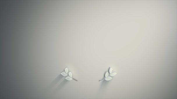 Díjak Laurel Leaves Texture Animation / 4k animáció egy design pálma díjak babérkoszorú és koronák, csillagok és textúra prémium termék és fóka tanúsítvány