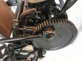 Fotografie zblízka vintage tiskařského stroje