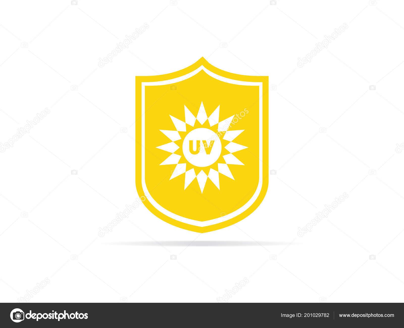1fda7470929e64 Bescherming Pictogram Ultraviolette Straling Met Zon Schild Logo Symbool  Vectorillustratie– stockillustratie