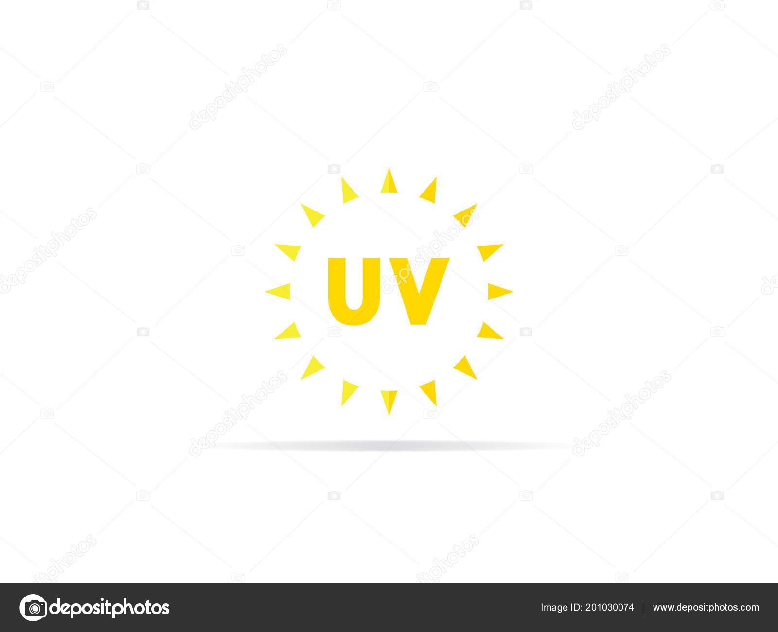 d99a23591baf57 Straling Pictogram Ultraviolet Met Zon Logo Symbool Vectorillustratie —  Stockvector