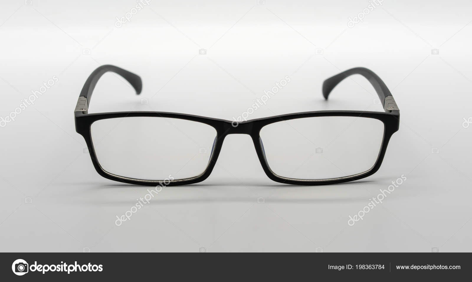 Black Plastic Eye Wear Eye Glasses Isolated White Background