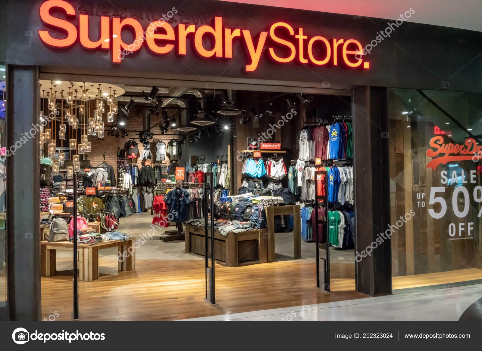 ee75c60919 Superdry Negozio Presso Emquatier Bangkok Thailandia Giugno 2018 ...