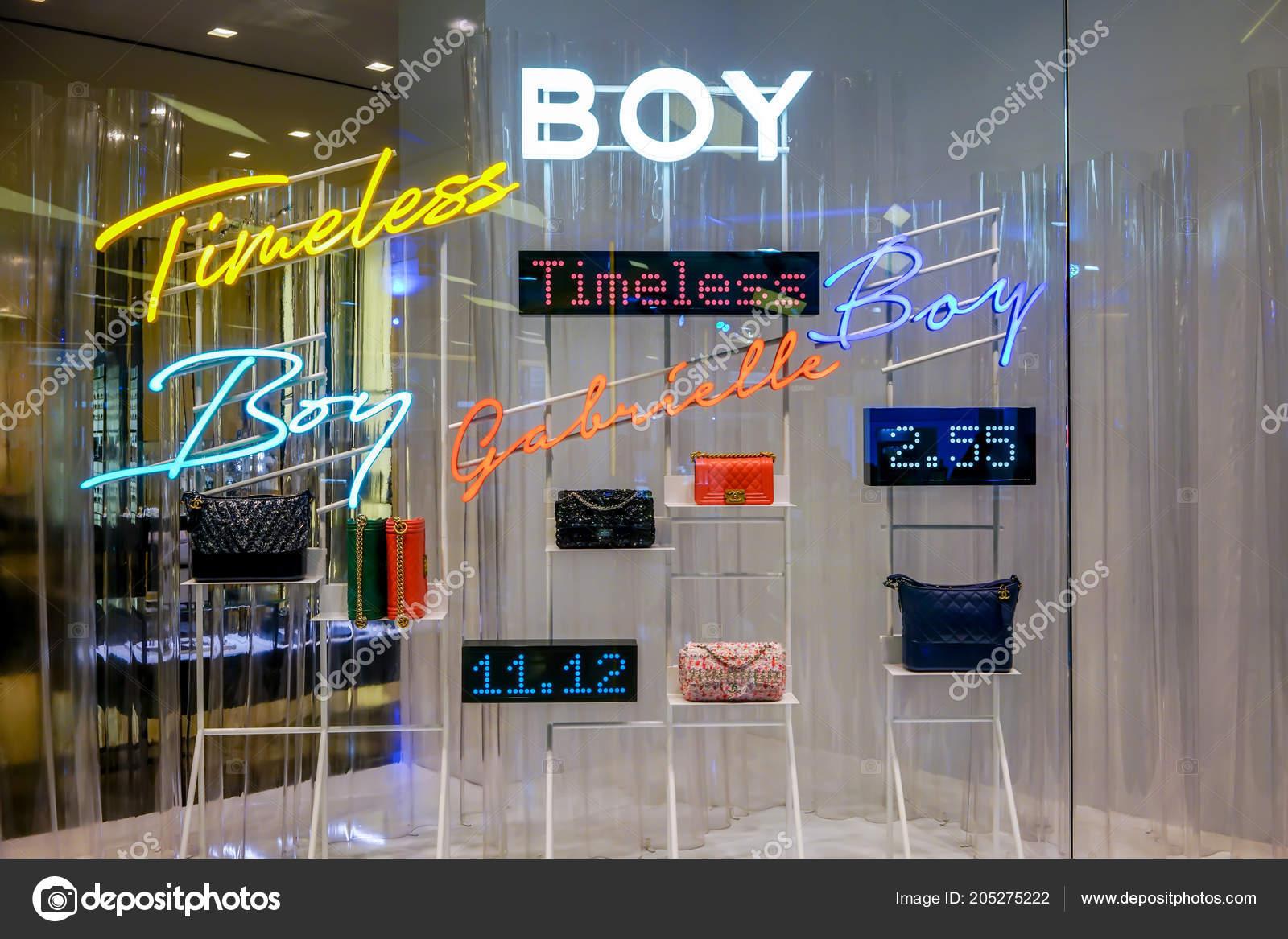Channel Shop Siam Paragon Bangkok Thailand May 2018 Luxury