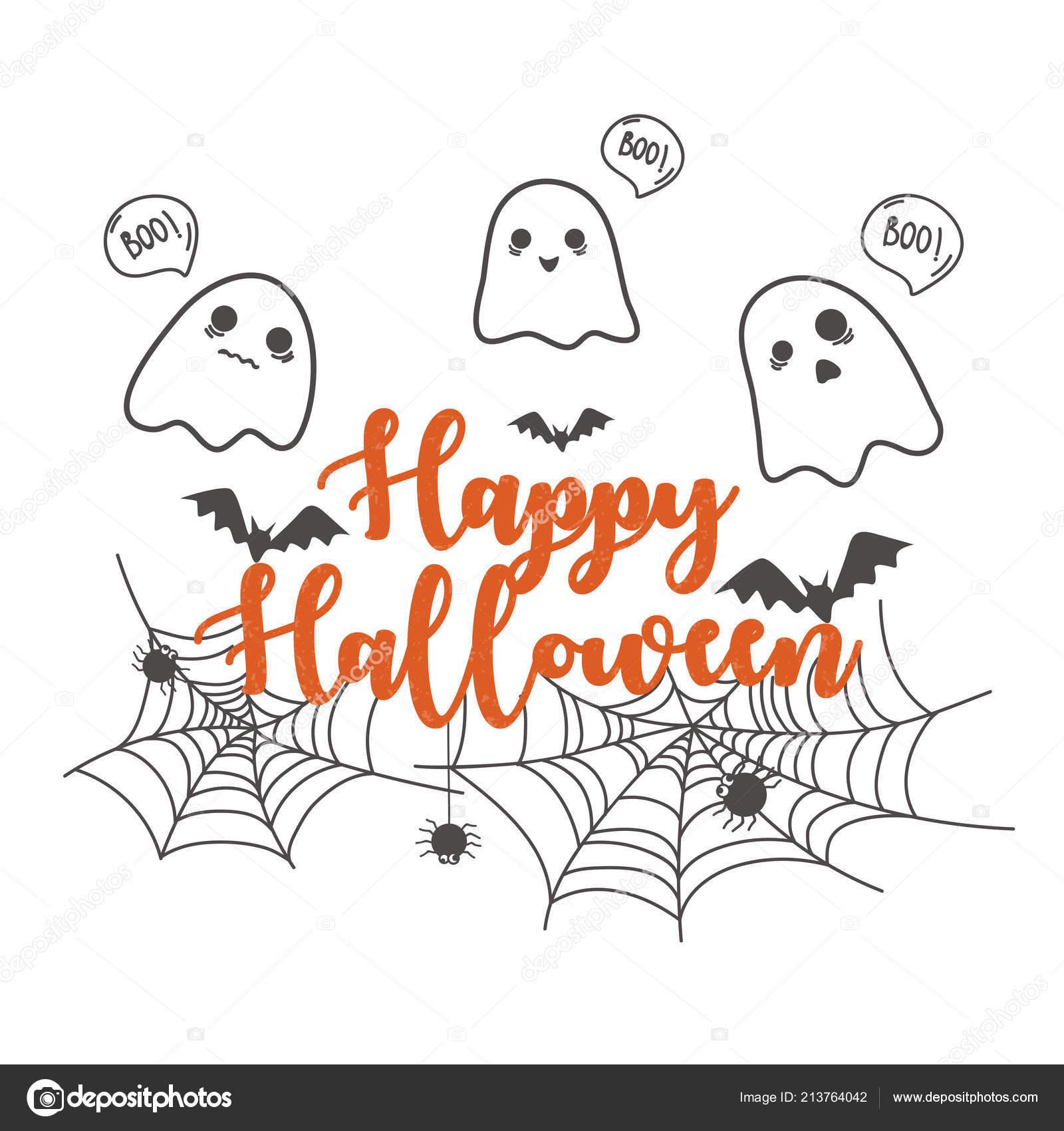 Modèle Conception Bannière Halloween Heureux Dessin Animé