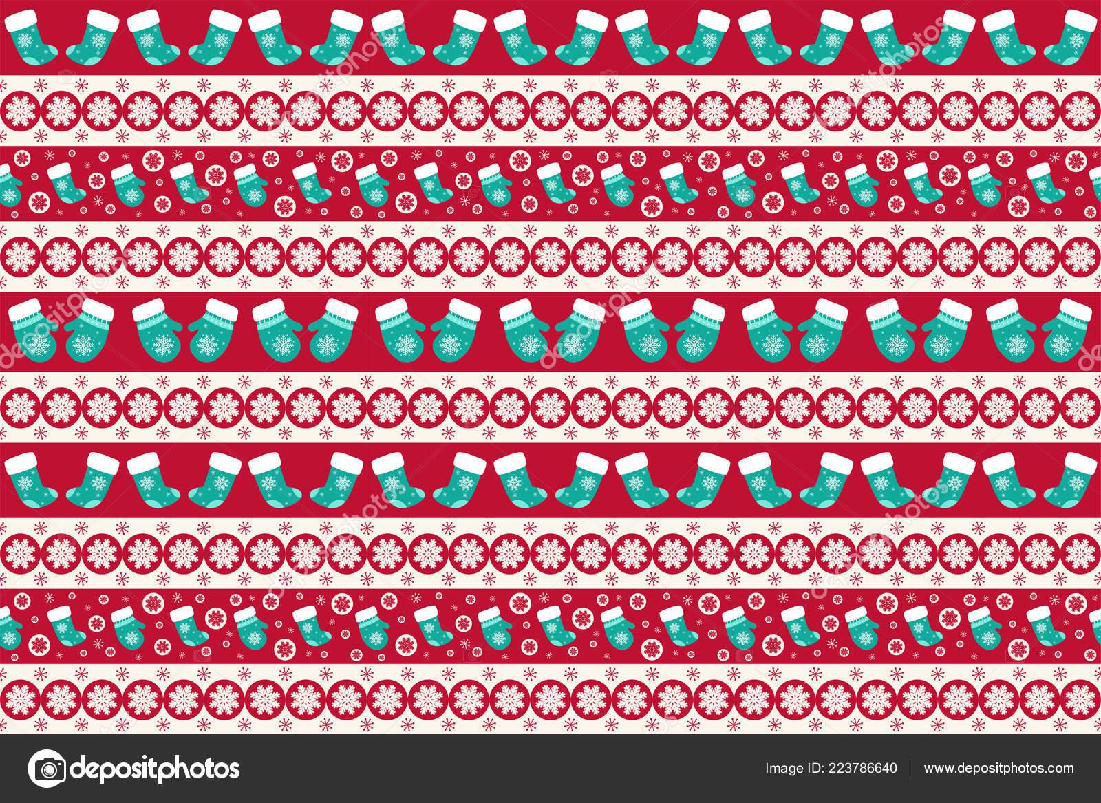 Merry Christmas Pattern Seamless Christmas Wallpaper Endless Texture Gift Wrap Stock Vector C Mokoland 223786640