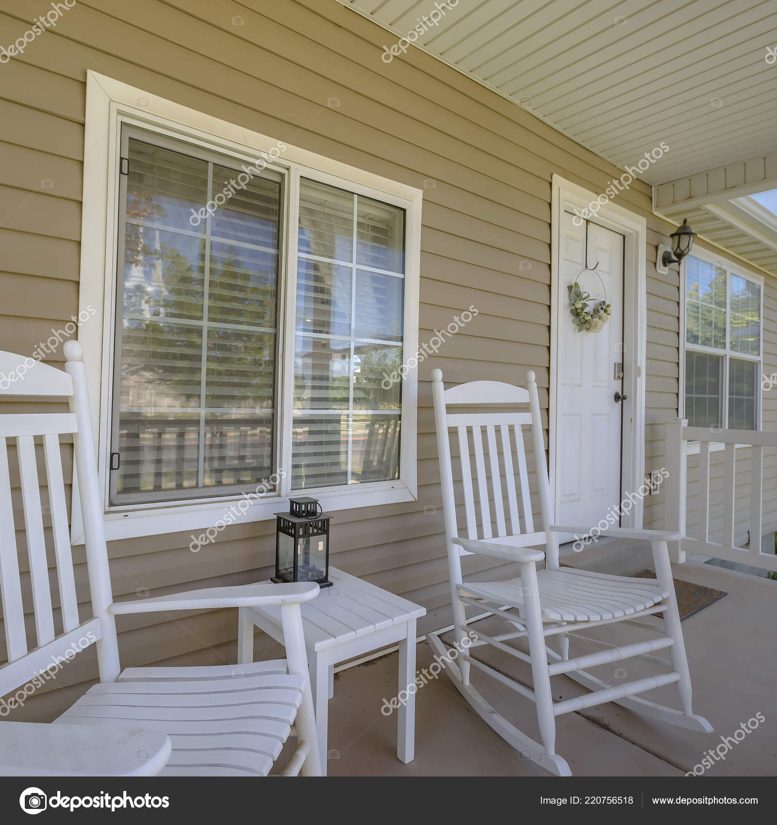 Incredible Decorating Front Porch With Rocking Chairs White Door And Creativecarmelina Interior Chair Design Creativecarmelinacom