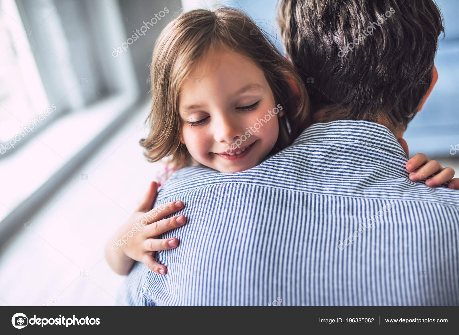 Just Very young little girl loves daddy phrase