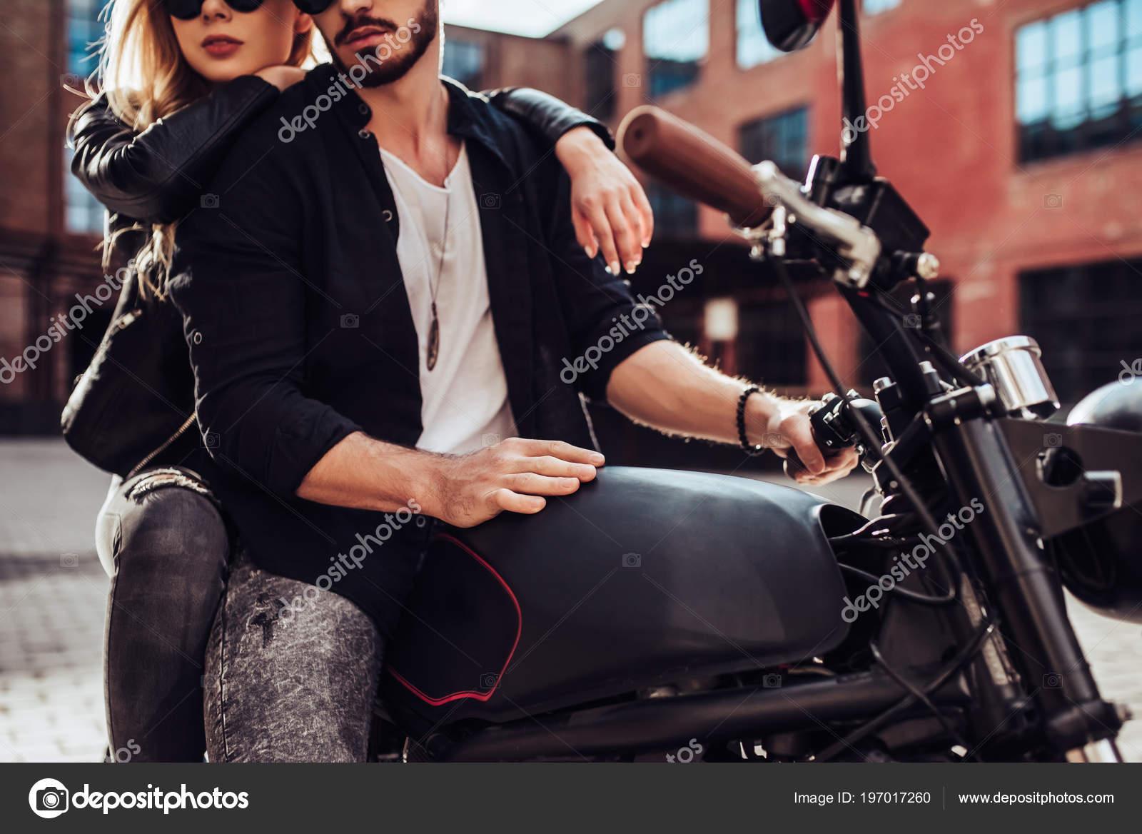 ᐈ Couple Bikers Stock Photos Royalty Free Biker Couple Images Download On Depositphotos