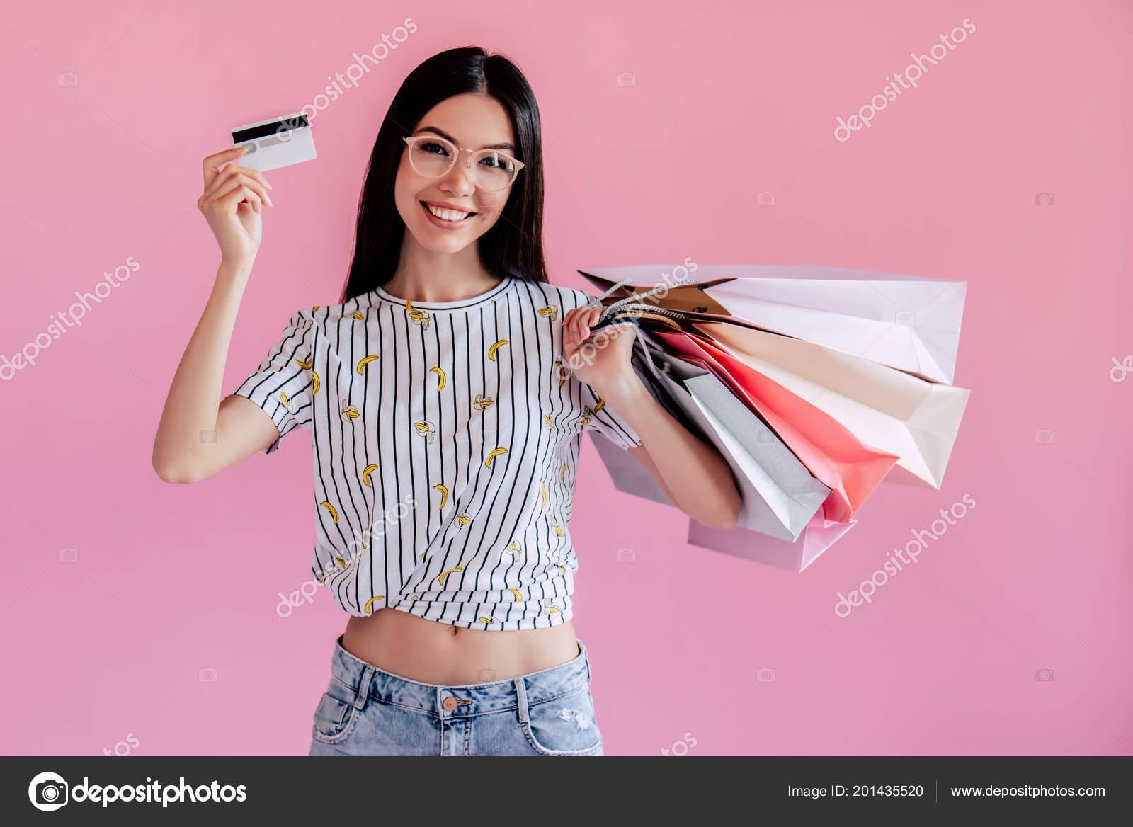 Asian Teenage Girl Pink Background Stylish Young Woman