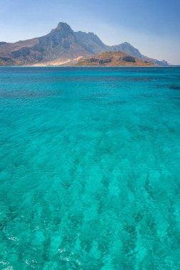 Rocky coast near The Balos lagoon in the northwest of Crete, Greece, Europe.