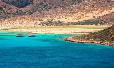 The Balos lagoon in the northwest of Crete, Greece, Europe.