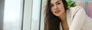 Adult beautiful happy smile fashion businesswoman