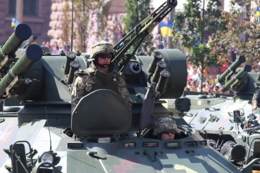 Kyiv, Ukraine - August 24 2018: Kyiv is hosting a military parade on the 27th anniversary of Ukraine's independence on August 24.