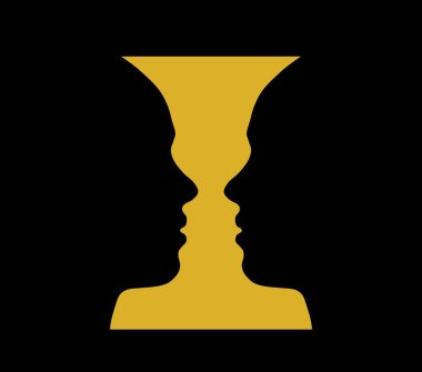 Rubin vase, optical illusion, head girl