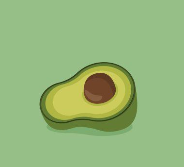 Avocado icon. healthy food and nutrition theme. isolated design. vector illustration icon