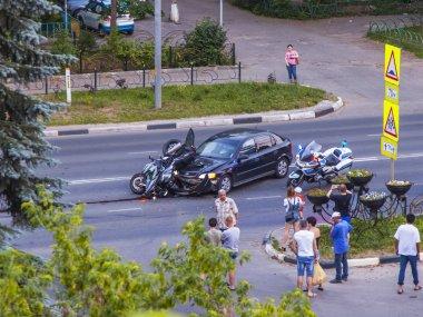 Pushkino, Russia, on June 22, 2019. Transport incident