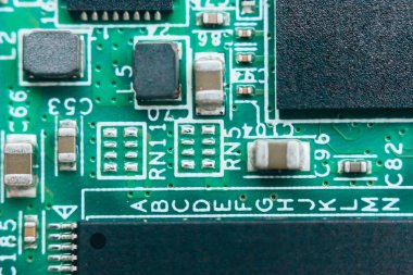 Circuit board repair. Electronic hardware modern technology. Motherboard digital personal computer chip