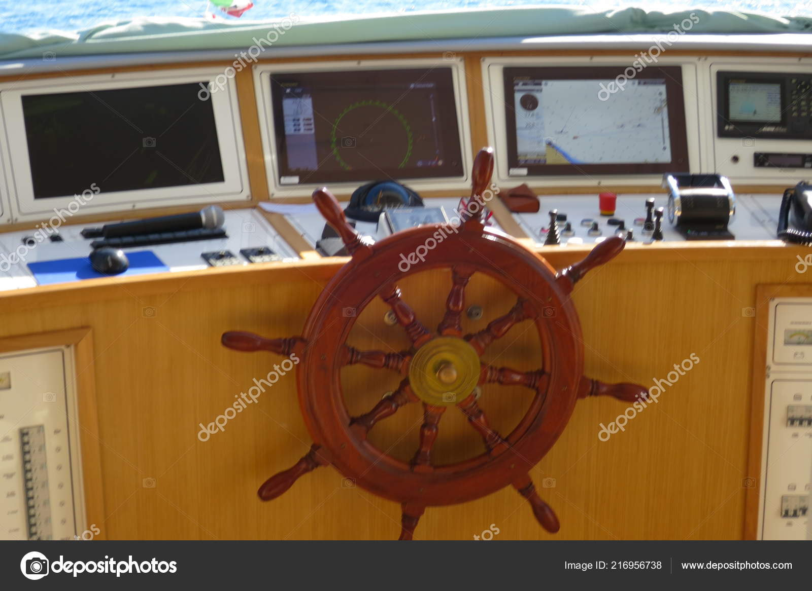 Boat Navigation Command Post Helm Stock Photo Stanga190 216956738