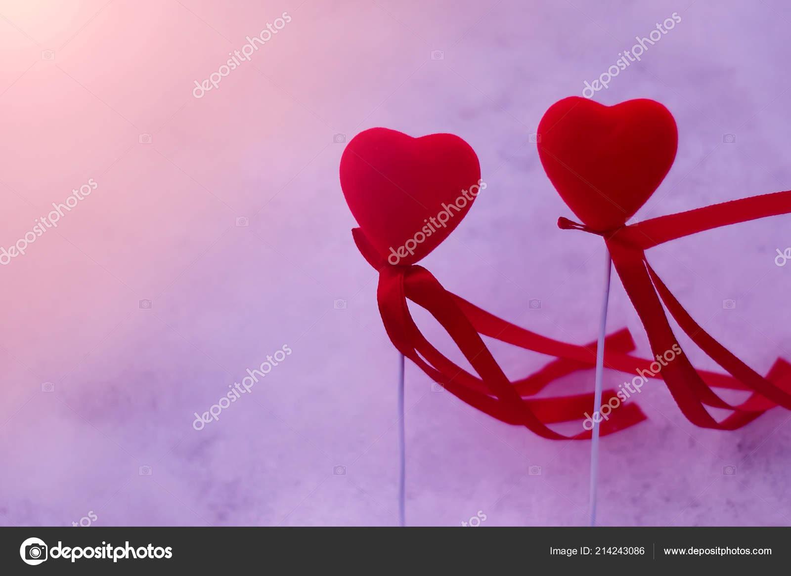 Heart Symbols Snow Background Mayk75 214243086