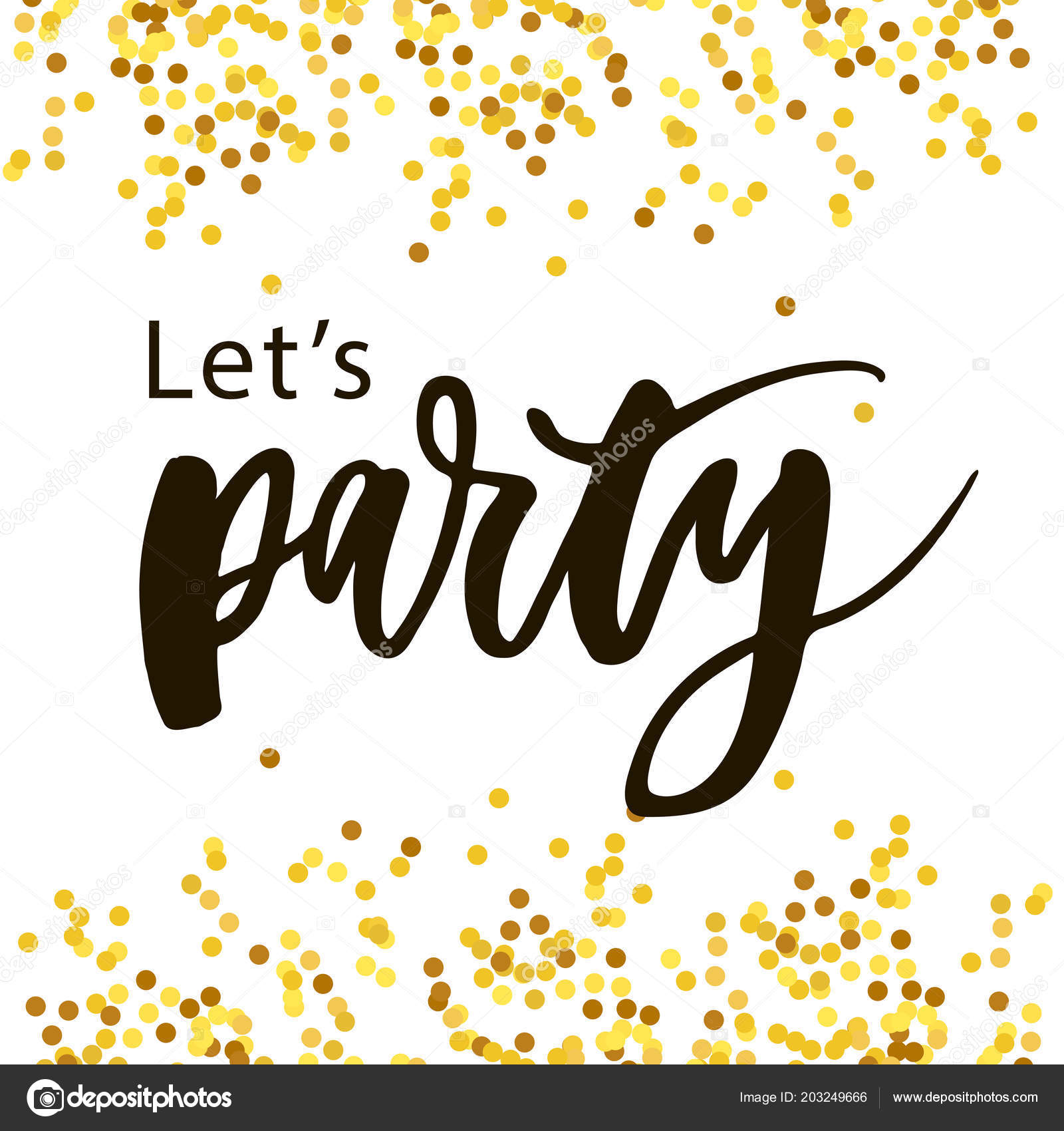 Let S Party Vector Triangular Letters Stock Vector C Ukususha