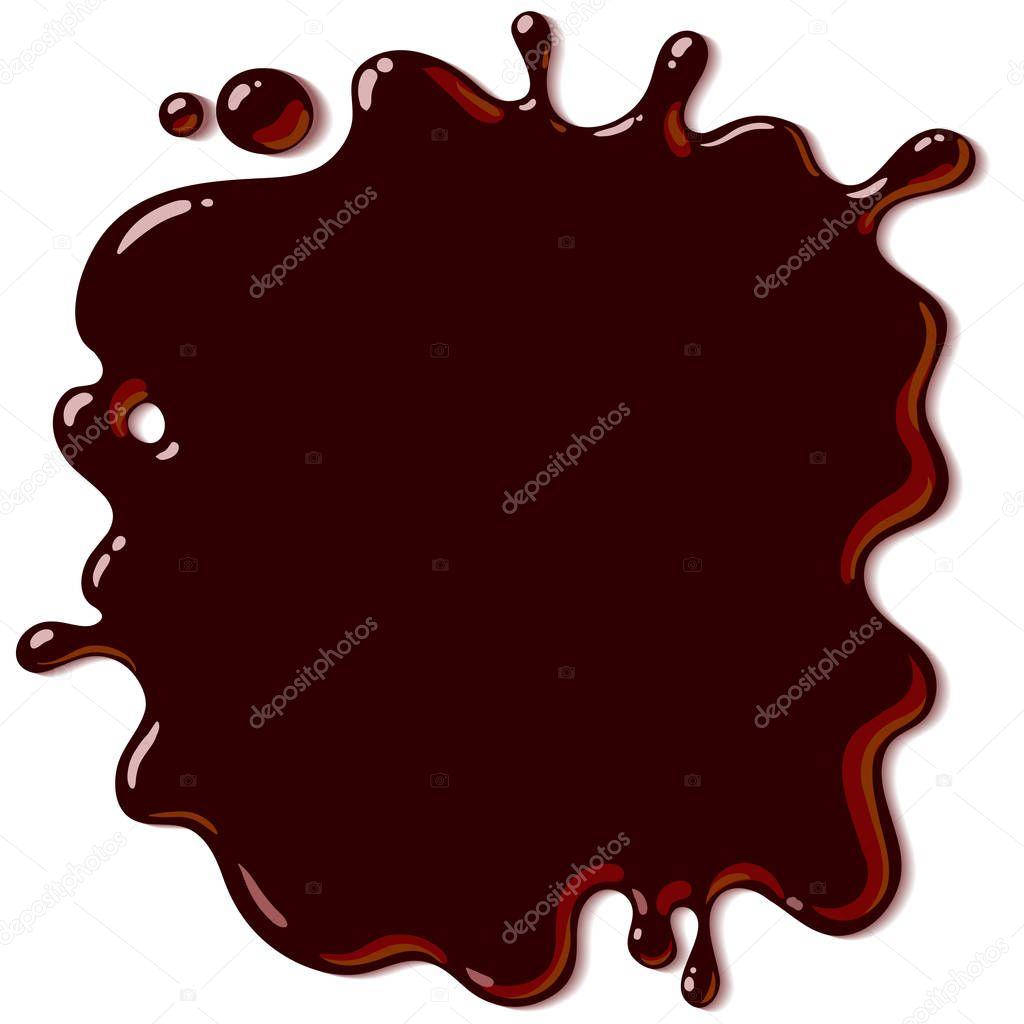 spilled chocolate background hot chocolate splash vector illustration isolated on white background premium vector in adobe illustrator ai ai format encapsulated postscript eps eps format spilled chocolate background hot