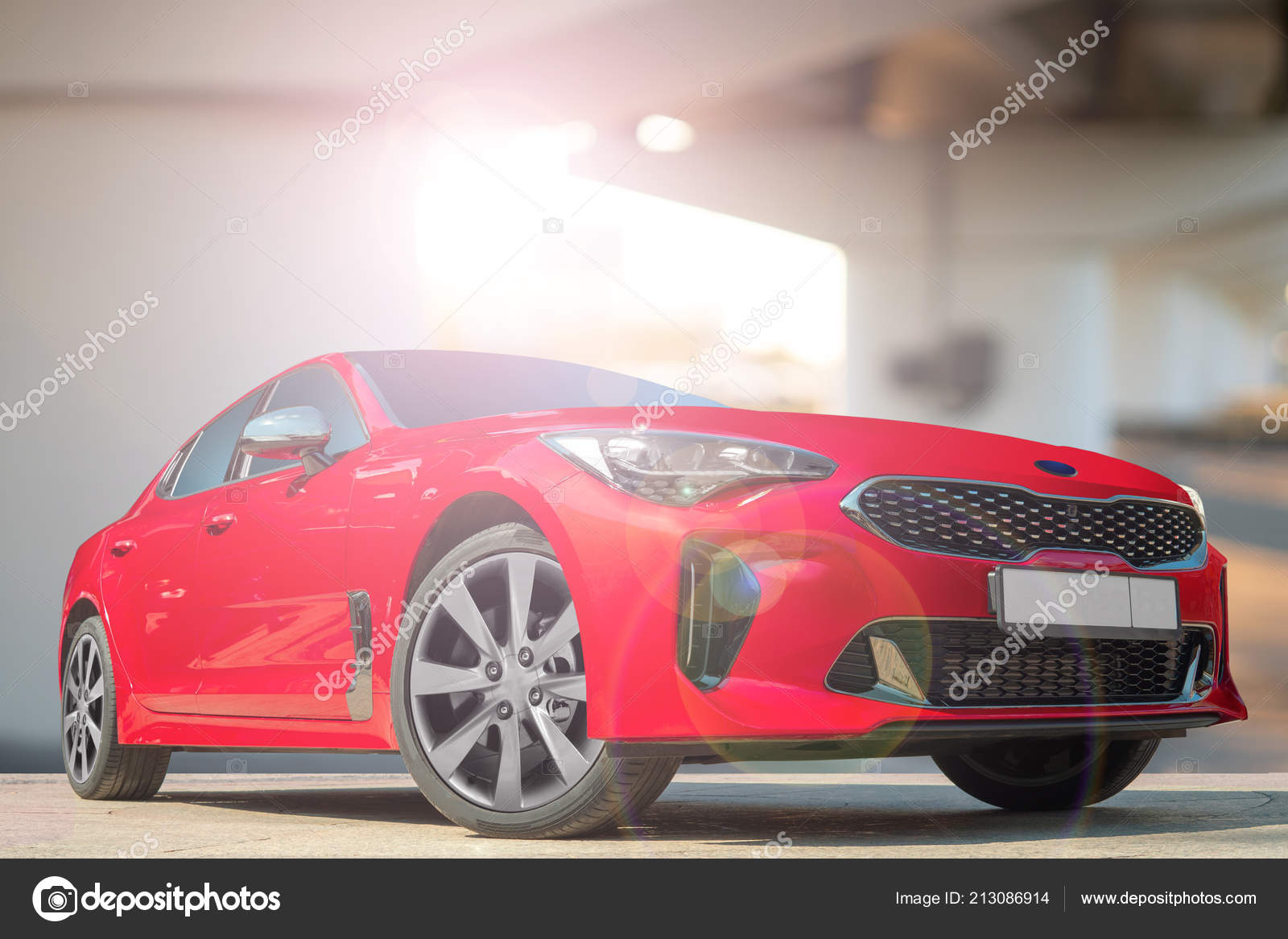Red Car Background City Environment Stylish Modern Bright Image Car Stock Editorial Photo C Sandipruel 213086914