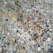 Photo Garbage dump. Top view.