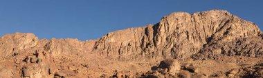 """Картина, постер, плакат, фотообои """"удивительный восход солнца на горе синай в египте, ранним утром вид на вершину горы фес пейзаж ретро"""", артикул 296536000"""