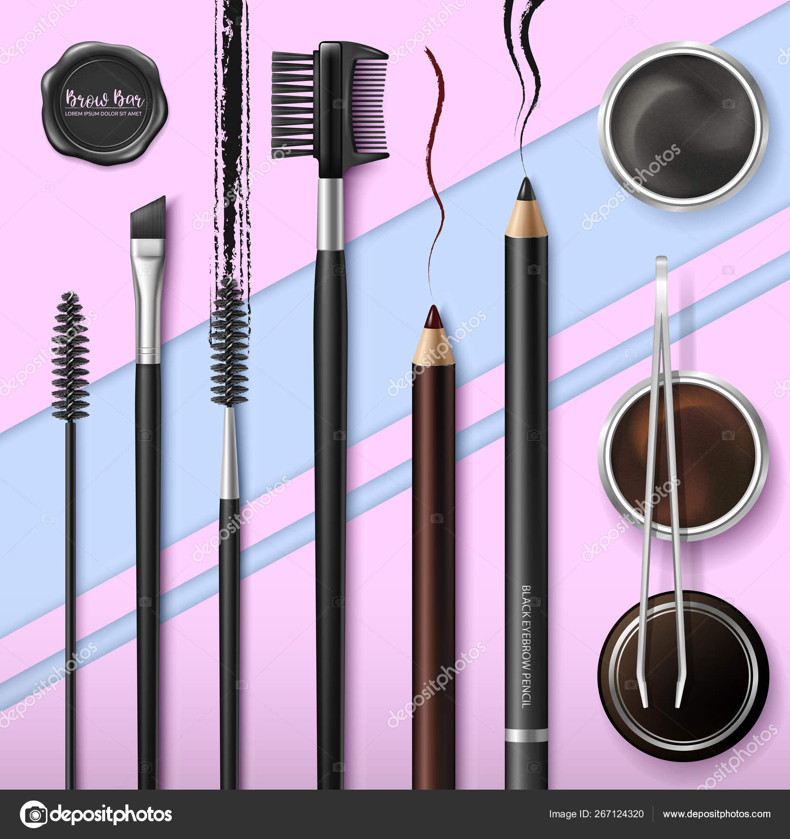 Lash and Brow Bar  Accessories  Make up  Tools for care of