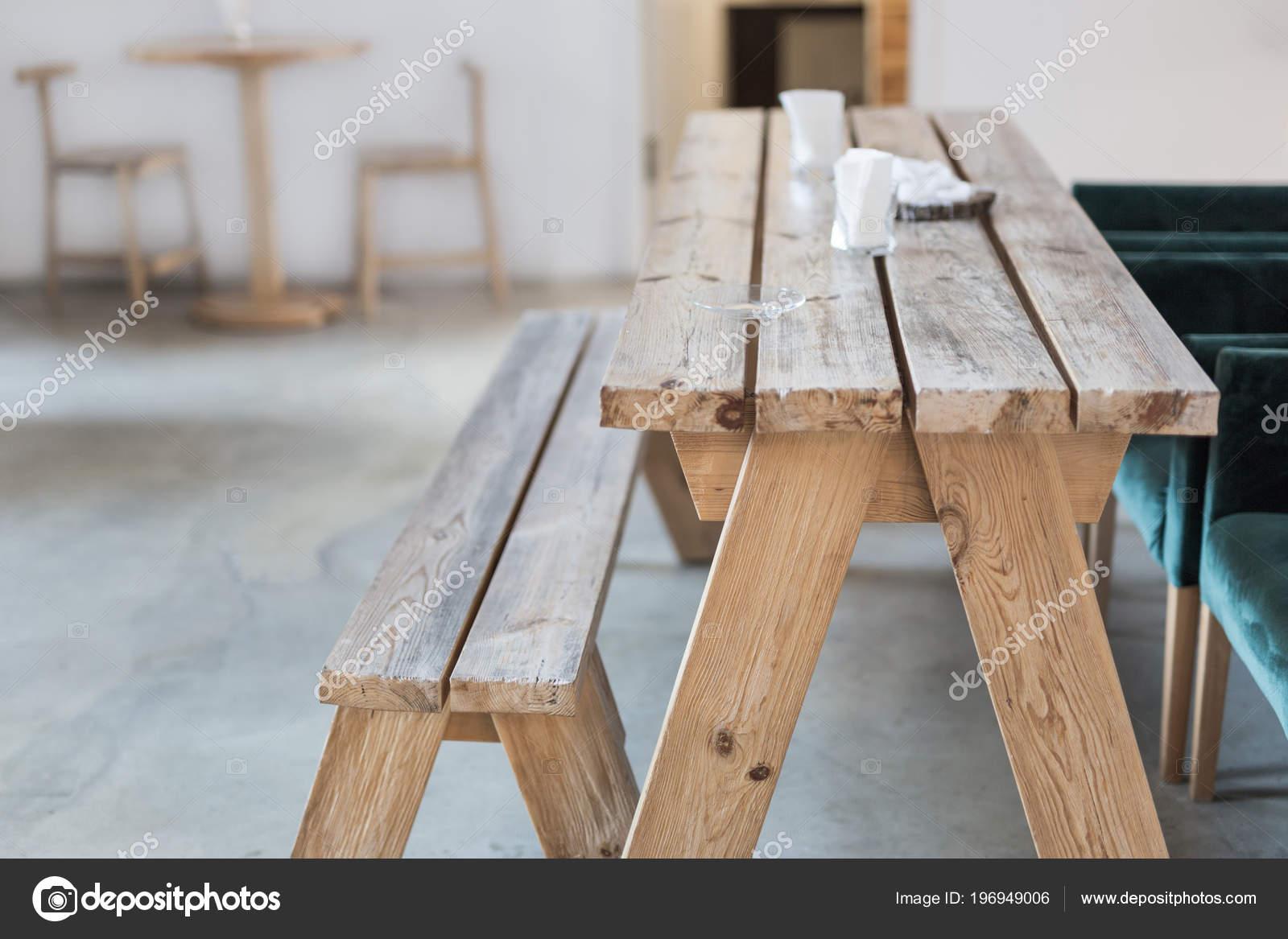 Banc Bois Table Intérieure Intérieur Rustique Rural Présentation