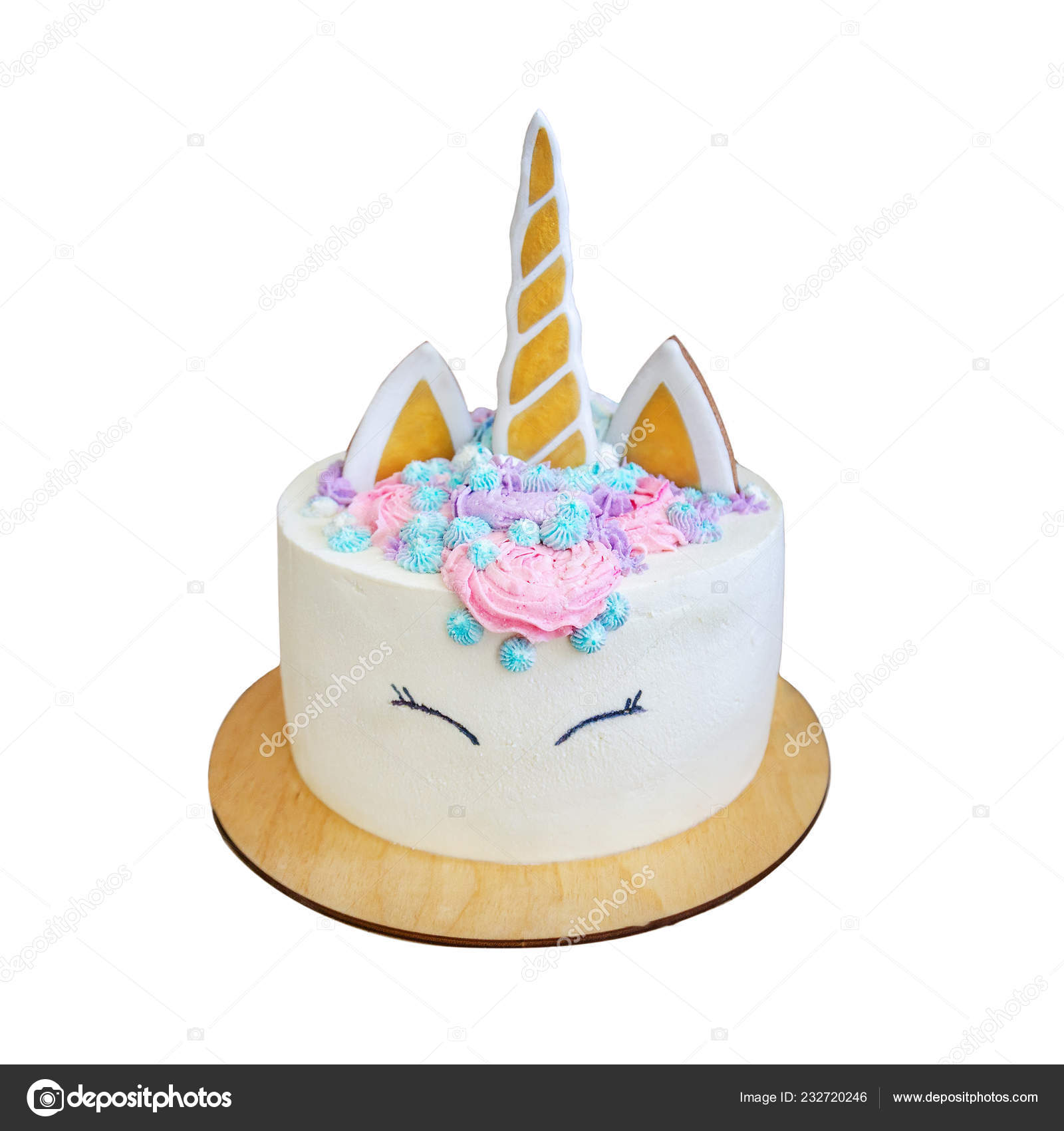 Beautiful Bright Delicious Birthday Cake Girls Decorated