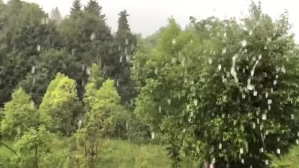 Teče voda z okapů Zpomalený pohyb