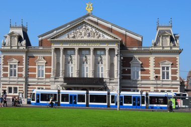 Amsterdam, the Netherlands - May 20, 2018: the Royal Concertgebouw concert hall by architect Adolf Leonard van Gendt, one of the finest concert halls in the world